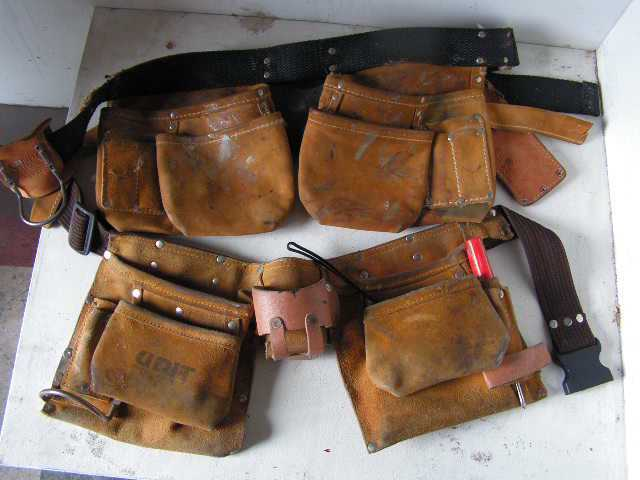 Leather Tool Belts $5 - $12.50