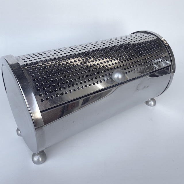 BRE0004 BREAD BOX, Chrome Perforated $7.50