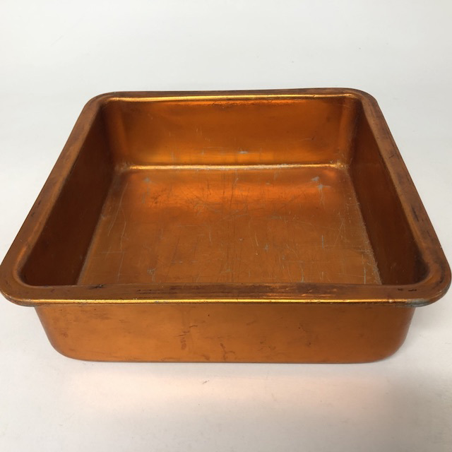 CAK0057 CAKE TIN, 1950's Orange Anodised $5