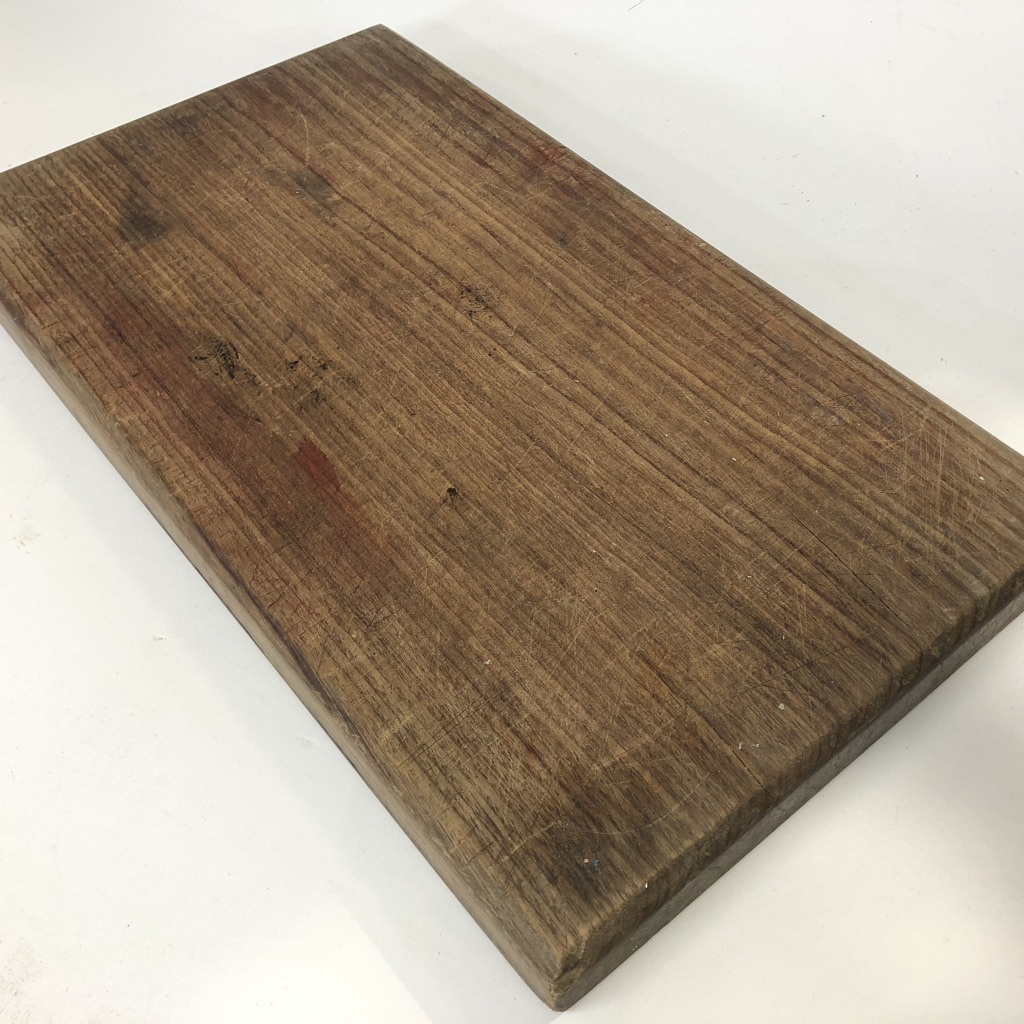 CHO0001 CHOPPING BOARD, Dark Woodgrain w Stains $7.50
