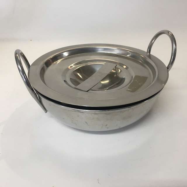 COO0001 COOKWARE, Pan w Lid - Stainless Steel (Small) $6.25