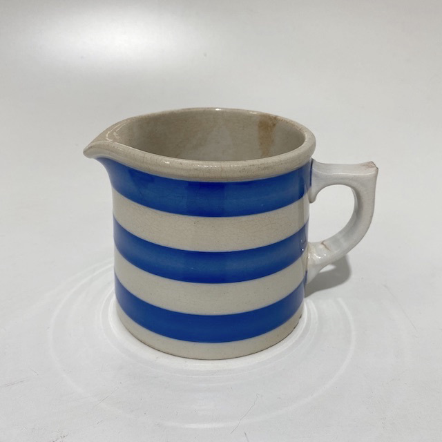 JUG0052 JUG, Blue White Stripe Corningware $12.50