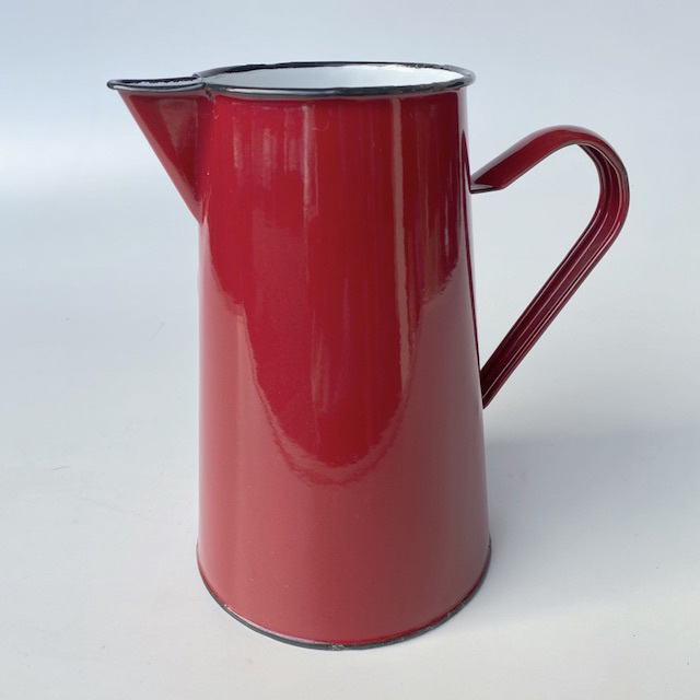JUG0028 JUG, Red Enamel $7.50