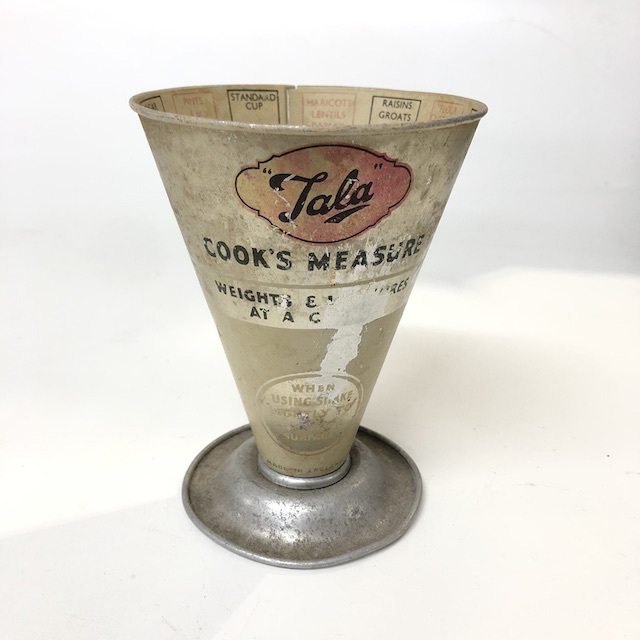 MEA0016 MEASURING CUP, 1950's Cream 'Crooks Measure' $12.50