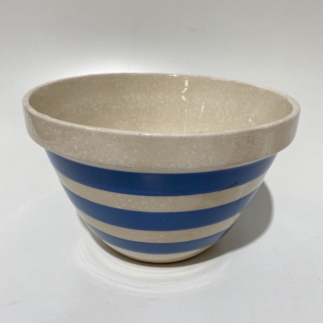 MIX0032 MIXING BOWL, Blue White Stripe Vintage Corningware $12.50