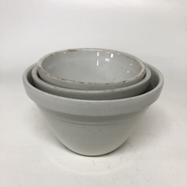 MIX0026 MIXING BOWL, Stoneware Assorted - Small $6.25