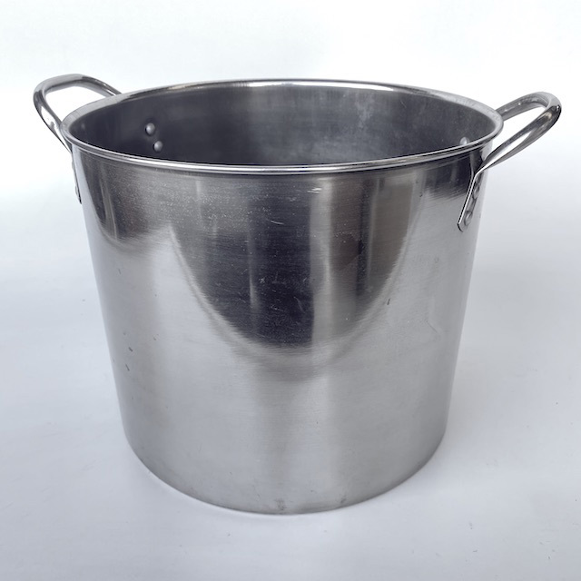 POT0207 POTS n PANS, Aluminium Stock Pot Commercial Style Shiny - Large $15
