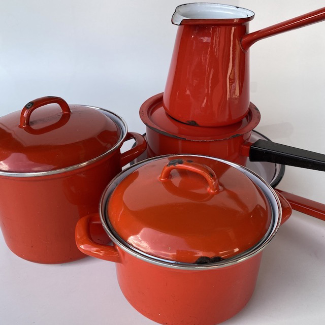 Orange Enamel Pots n Pans Collection