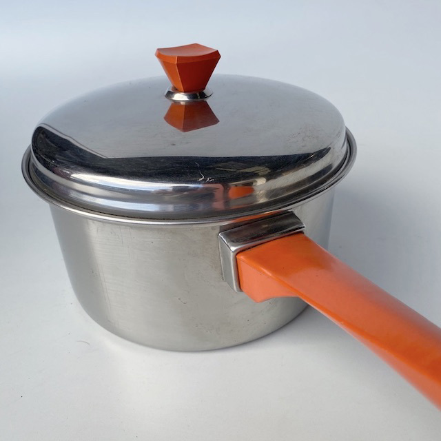 POT0189 POTS n PANS, Orange Handle Saucepan $7.50