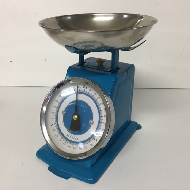 SCA0053 SCALES, Blue w Chrome Dish $15