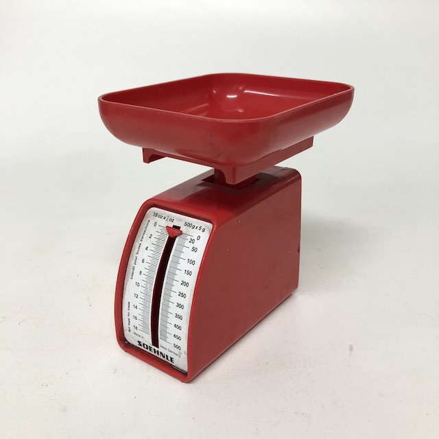 SCA0059 SCALES, Red Plastic 'Soehnle' - Mini $6.25