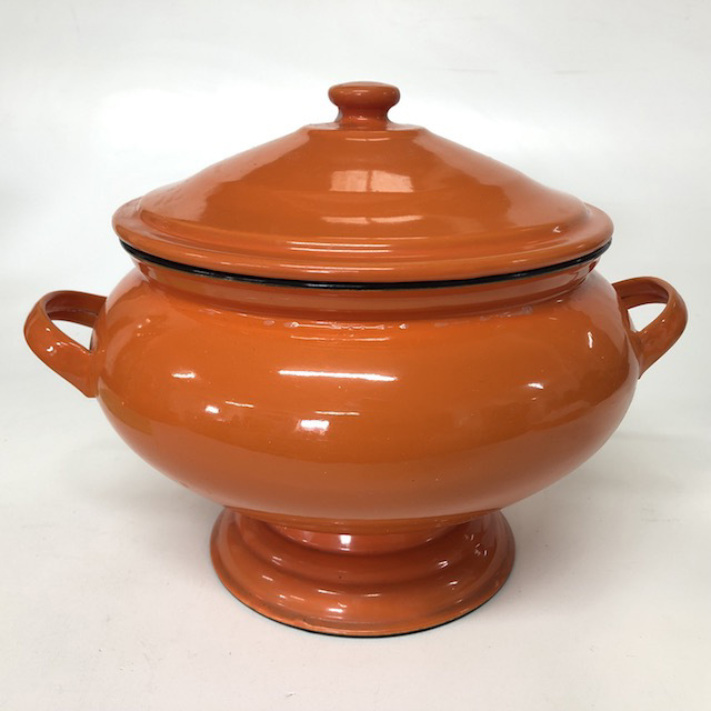 SOU0001 SOUP TUREEN, Orange Enamel $12.50