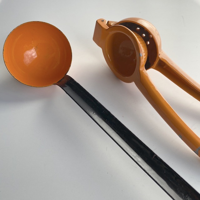 UTE0026 UTENSIL, Orange Enamel $3.75
