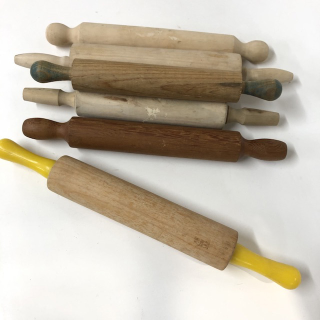 UTE0022 UTENSIL, Rolling Pin - Wooden Assorted $8.75