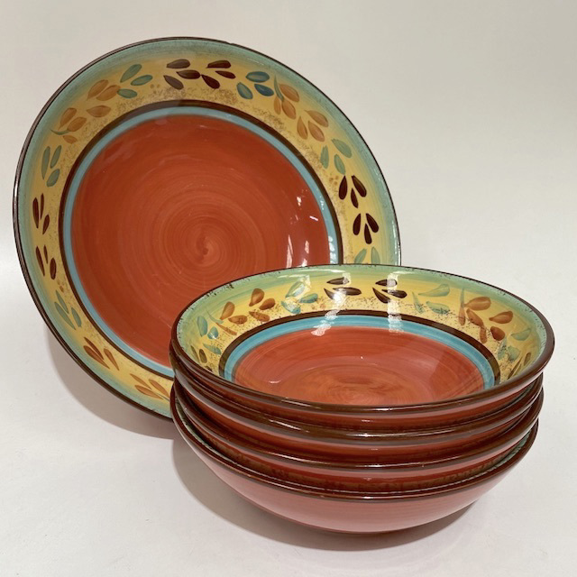 BOW0217 BOWL, Handpainted Tuscan Pasta or Serving Bowl $3