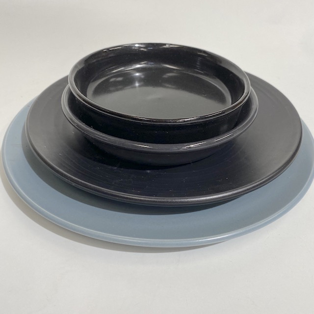 DIN0024 DINNERWARE, Contemporary Black or Grey Assorted $2.50
