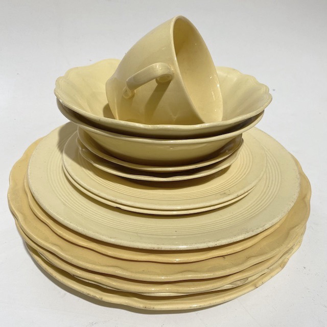 DIN0040 DINNERWARE, Vintage Assorted - Yellow $3