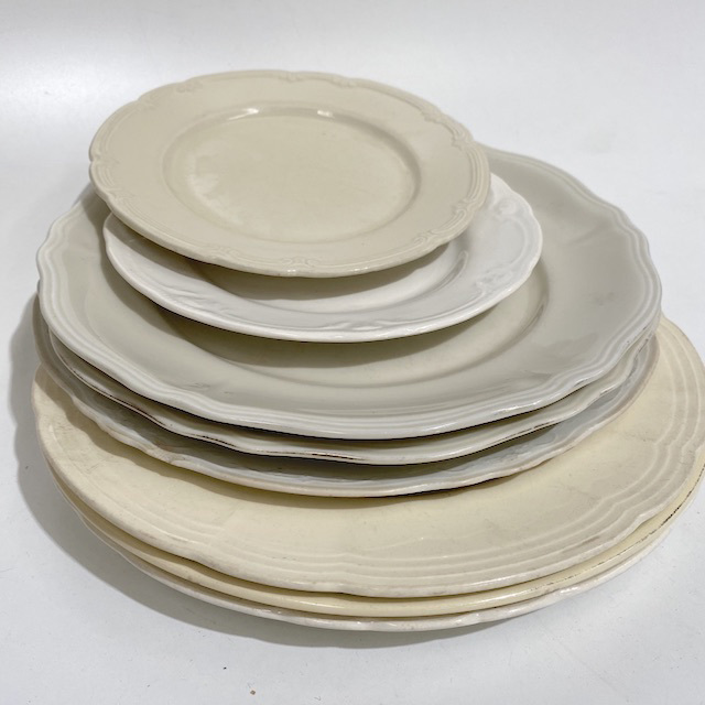 DIN0042 DINNERWARE, Vintage Cream and Off White $3