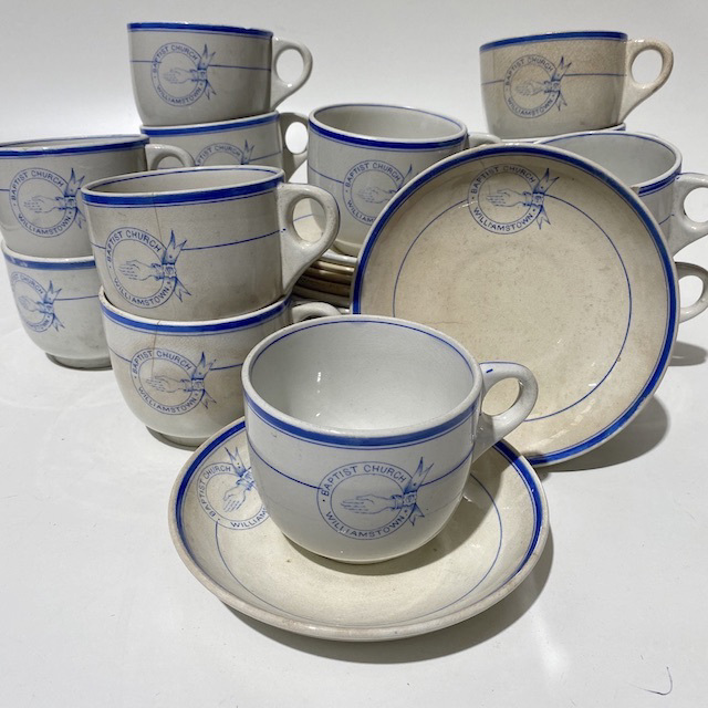DIN0044 DINNERWARE, Vintage Cup and Saucer Set - Williamstown Baptist Church $3.75