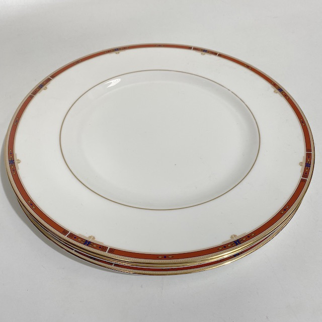 PLA0176 PLATE, Red Gold Rim $5