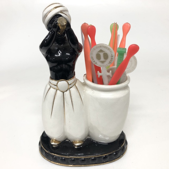CON0050 CONDIMENT MISC, Sultan Man Toothpick Holder $5