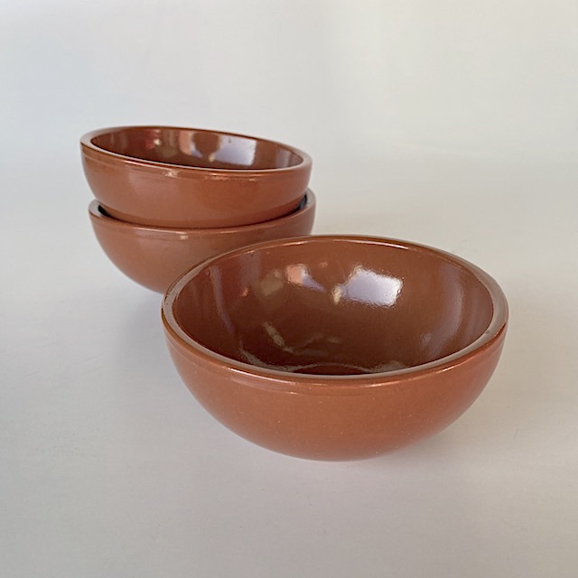 TAP0020 TAPAS BOWL, Glazed Brown - Small Condiment $1.25