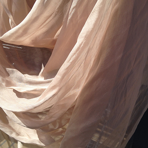 CUR0028 CURTAIN, Nude Chiffon 4x 80cm (ruffled) x 3.2m drop 1x 2.4m (ruffled) x 3.2m drop $25