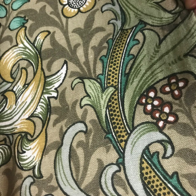 CUR0035 CURTAIN, Pair Beige Green Liberty Floral $37.50