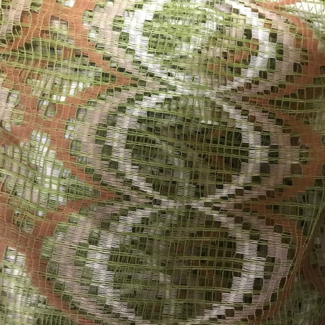 CUR0036 CURTAIN, Beige Green Net $20