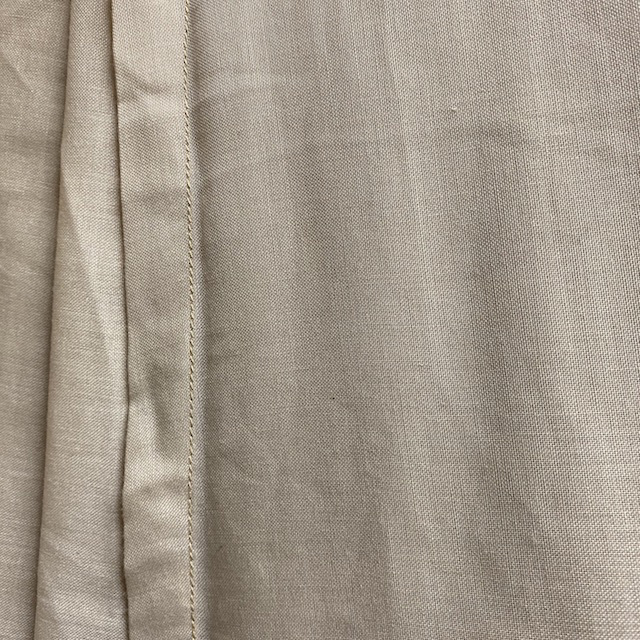 CUR0037 CURTAIN, Beige Sheer Cotton Panel $12.50