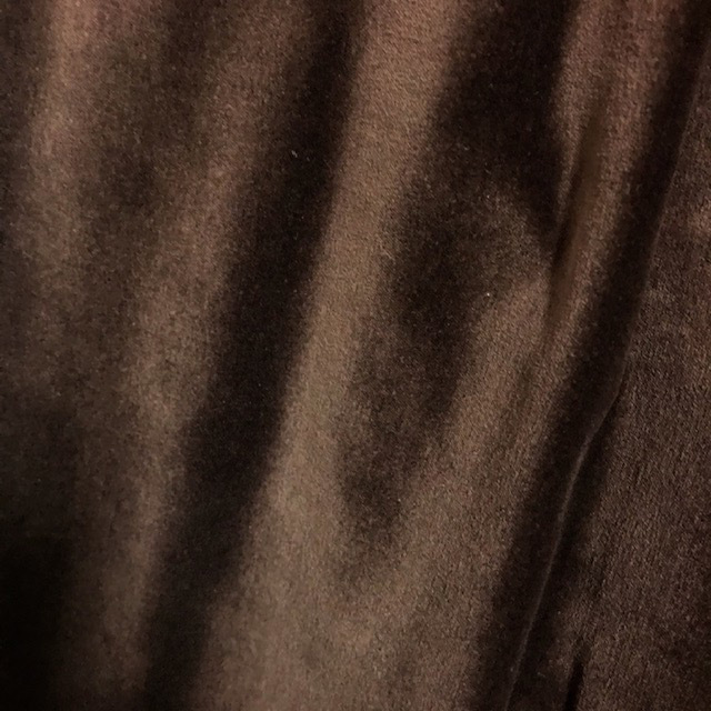 CUR0062 CURTAIN, Pair Brown Velvet $37.50