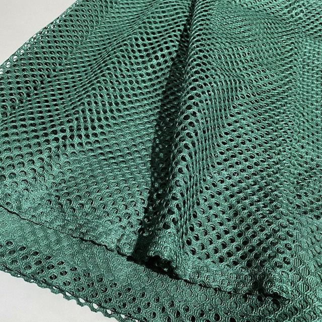 CUR0069 CURTAIN, Pair 1970s Green Teal Net $20
