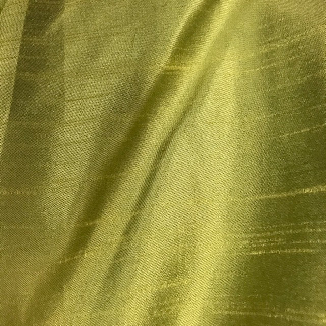CUR0077 CURTAIN, Pair Green Silk $37.50