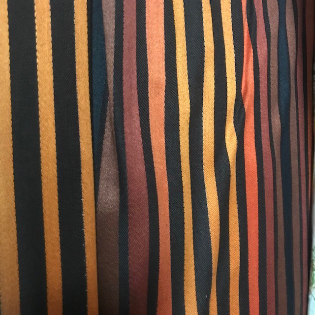 CUR0093 CURTAIN, Pair Orange Yellow Black Stripe $30
