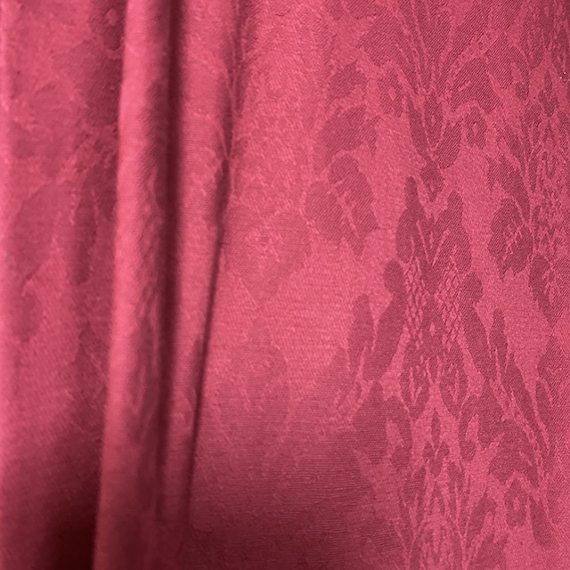 CUR0116 CURTAIN, Pair Red Damask $30