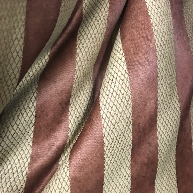 CUR0005 CURTAIN, Rust Stripe 1.2m x 2.9m drop $25