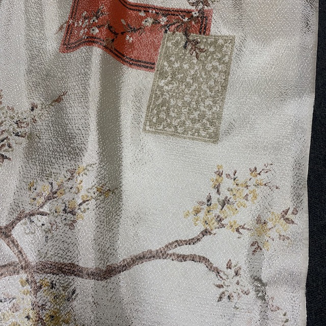 CUR0124 CURTAIN, Pair Vintage Asian Inspired $30