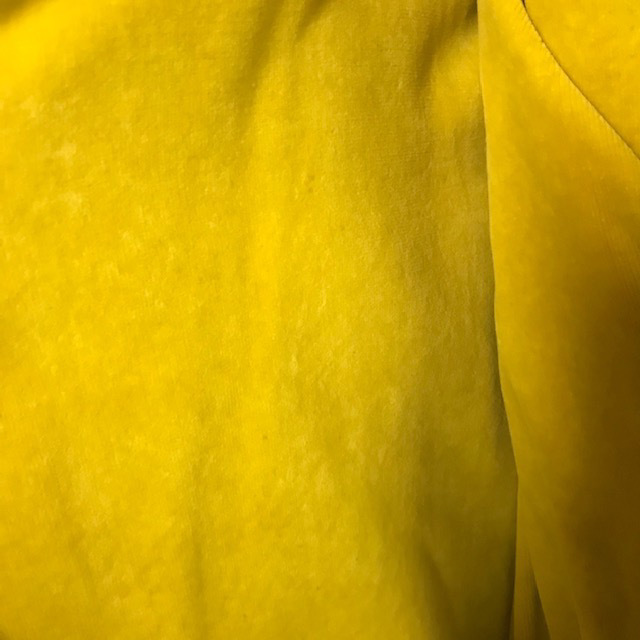 CUR0132 CURTAIN, Pair Yellow Mustard Velvet $37.50