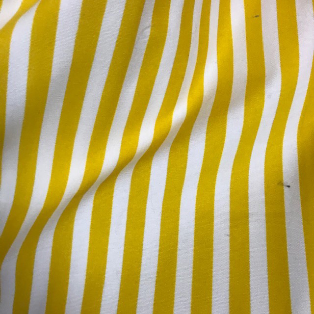 CUR0134 CURTAIN, Yellow White Stripe $25