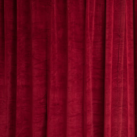 CUR0001 CURTAIN, Red Velour 1.2m x 2.7m drop $25