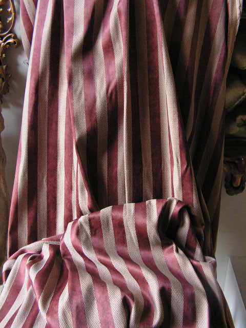CUR0006 CURTAIN, Rust Stripe 1.2m x 2.1m drop $25