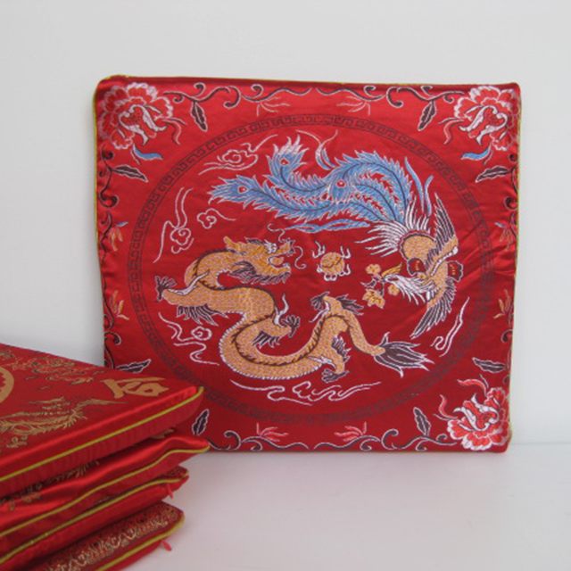 CUS0016 CUSHION, Asian - Seat Pad w Assorted Chinese Designs $10