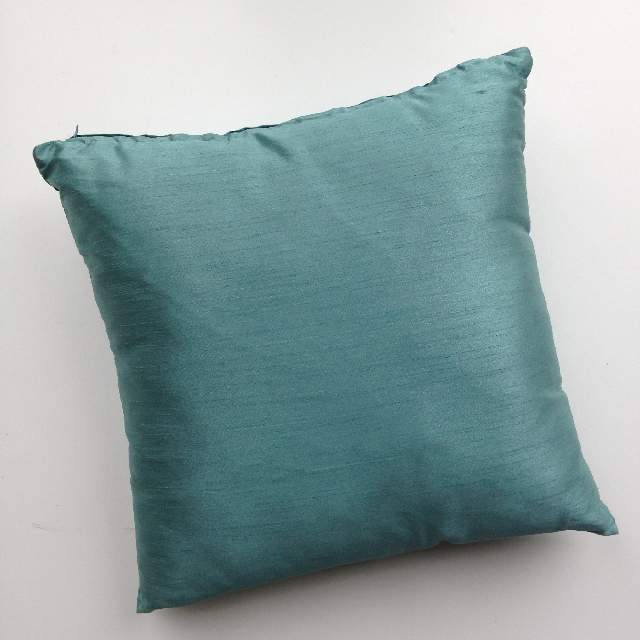 CUS0026 CUSHION, Aqua Blue Satin 45cm $10