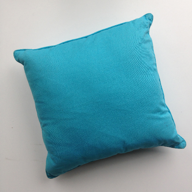 CUS0028 CUSHION, Light Blue Fabric 40cm $10