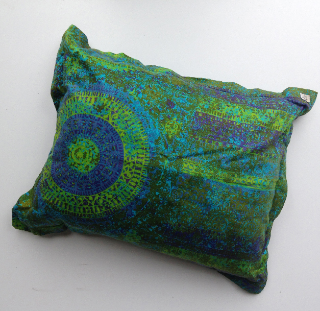 CUS0034 CUSHION, Bright Green, Purple & Blue 45cm x 55cm $10