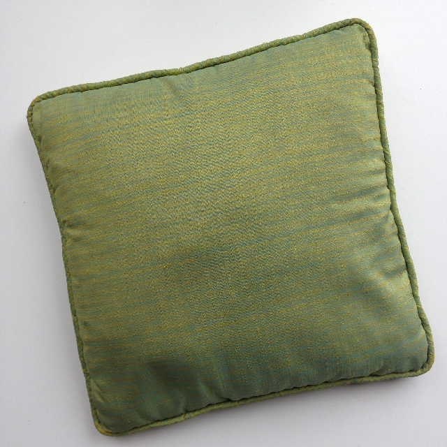 CUS0043 CUSHION, Small Green & Blue Shot Silk 35cm $7.50