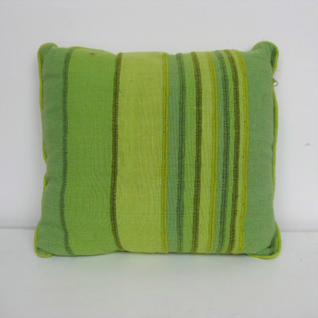 CUS0049 CUSHION, Green and Lime Stripe 50cm (Mexican) $10