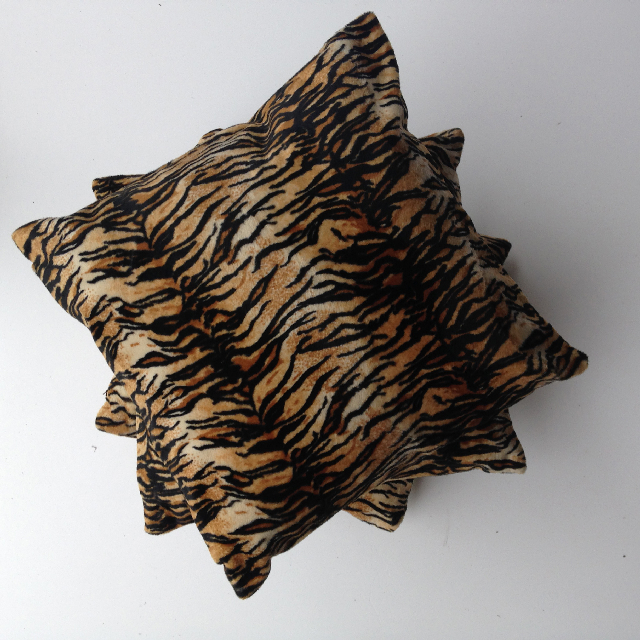CUS0083 CUSHION, Animal Print - Tiger 1 $10