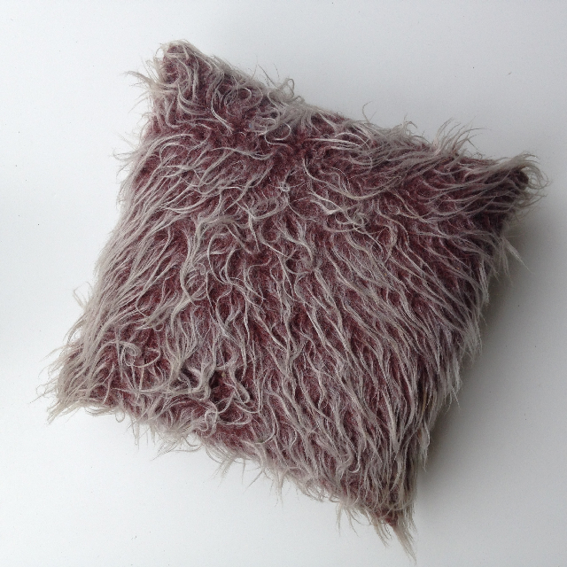 CUS0134 CUSHION, Faux Fur Brown $10