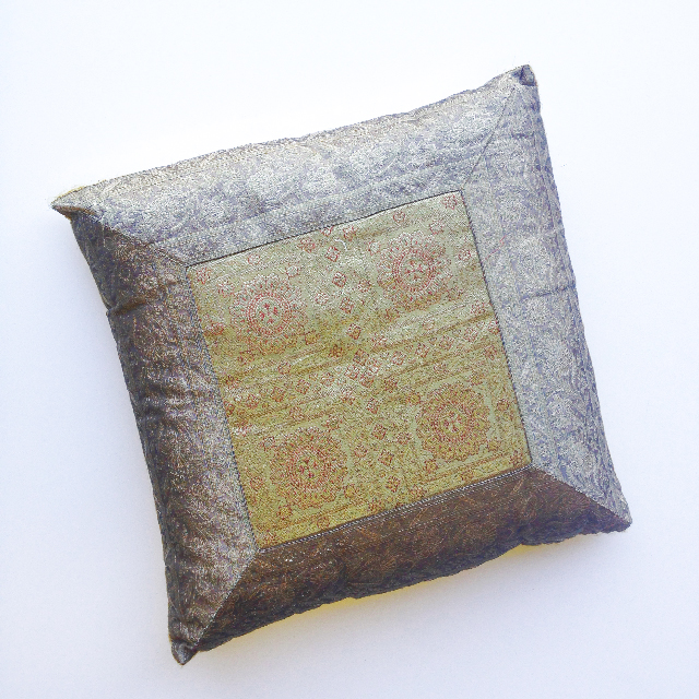 CUS0148 CUSHION, Indian - Yellow Silver 2 $10